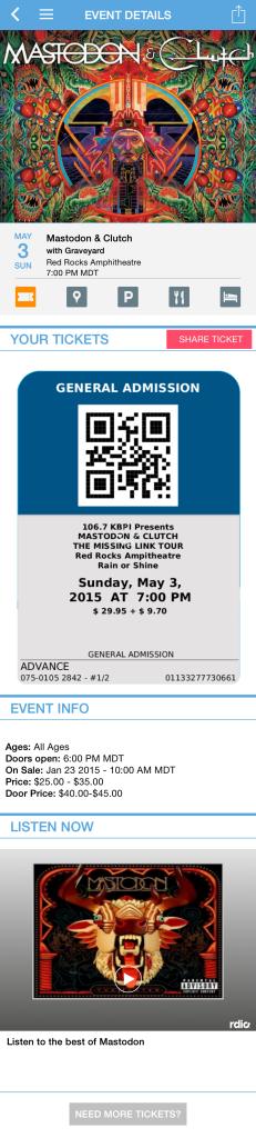 Mastodon.Ticket.Red.Rocks