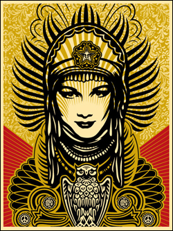 Shepard Fairey: Peace Goddess