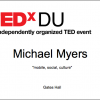 Link to TEDxDU: 2 days left!